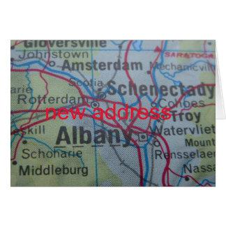 アルバニーの引っ越しましたの住所発表 カード