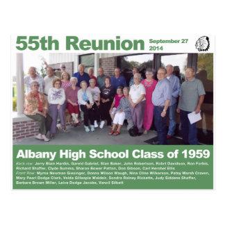 アルバニーの1959年の高校の授業-第55懇親会 ポストカード