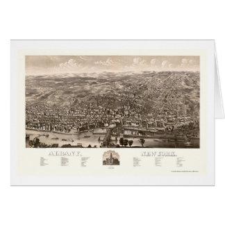 アルバニーのNYのパノラマ式の地図- 1879年 カード