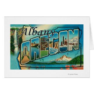 アルバニーのOregonLargeの手紙ScenesAlbany、または カード