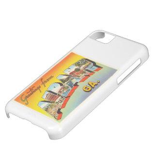アルバニージョージアGAの古いヴィンテージ旅行郵便はがき iPhone 5C ケース