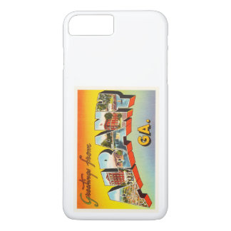 アルバニージョージアGAの古いヴィンテージ旅行郵便はがき iPhone 8 PLUS/7 PLUSケース