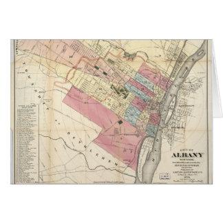 アルバニーニューヨークの地図(1874年)の都市 カード