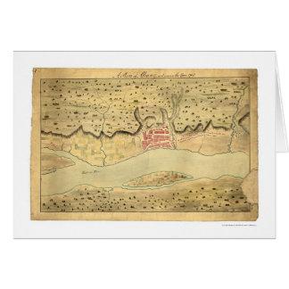 アルバニーニューヨークの早い地図1758年 カード
