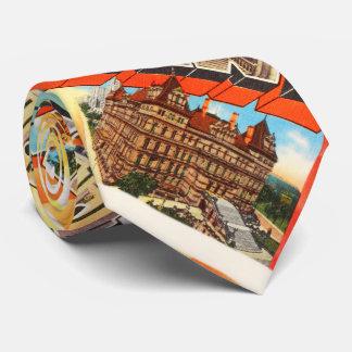 アルバニーニューヨークNYの古いヴィンテージ旅行記念品 カスタムタイ