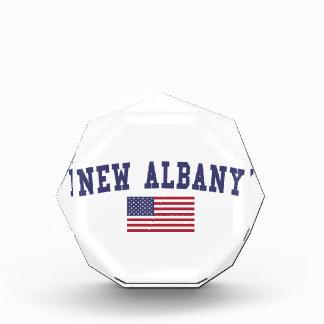 アルバニー新しい米国の旗 表彰盾