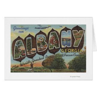 アルバニー、ジョージア-大きい手紙場面 カード
