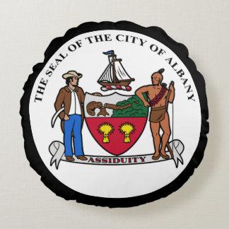 アルバニー、ニューヨークの紋章付き外衣 ラウンドクッション