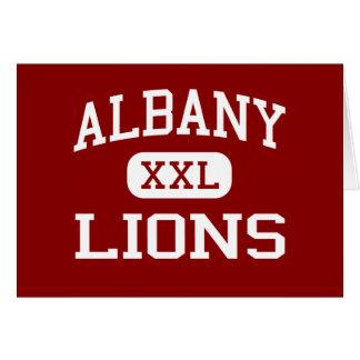 アルバニー-ライオン-アルバニーの高等学校-アルバニーテキサス州 カード
