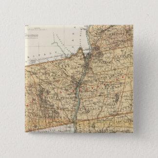 アルバニー、Rensselaerのコロンビア郡 5.1cm 正方形バッジ