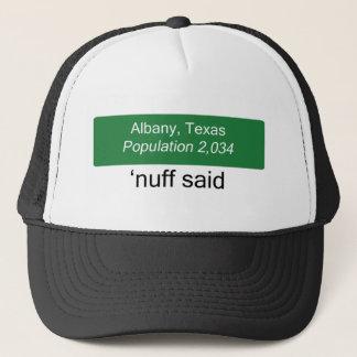 アルバニーNuffは帽子を言いました キャップ