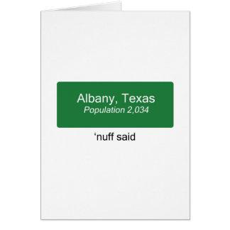 アルバニーNuffは言いました カード