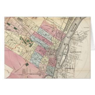アルバニーNY (1874年)のヴィンテージの地図 カード
