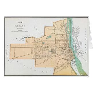 アルバニーNY (1895年)のヴィンテージの地図 カード
