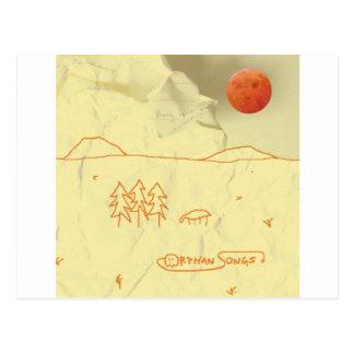 アルバムカバーと自己タイトルを付けられる孤児の歌 ポストカード