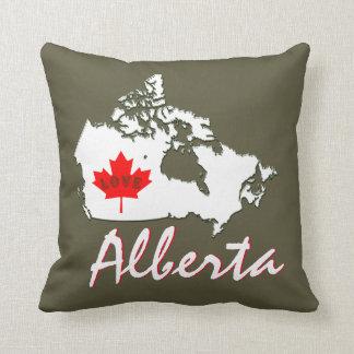 アルバータの暗灰色の茶色は愛カナダの地域をカスタマイズ クッション
