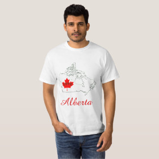 アルバータはカナダの地域愛ワイシャツをカスタマイズ Tシャツ