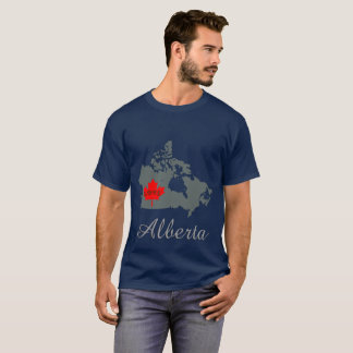 アルバータは妊婦のなカナダの地域の灰色をカスタマイズ Tシャツ
