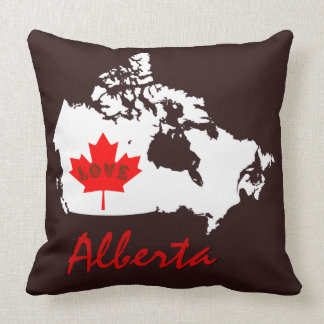 アルバータは愛カナダの地域の枕をカスタマイズ クッション