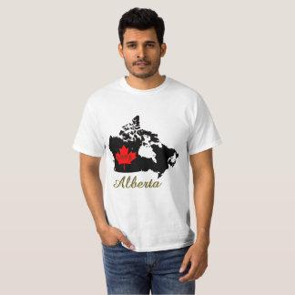 アルバータカスタマイズ可能でカスタムな愛カナダの地域 Tシャツ