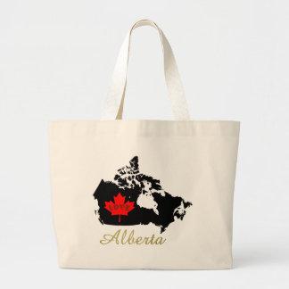 アルバータカスタマイズ可能な愛カナダの地域のトートバック ラージトートバッグ