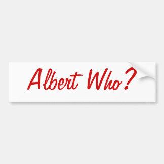 アルバートだれか。 セントルイスのバンパーステッカー バンパーステッカー