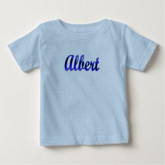 アルバートの青のTシャツ ベビーTシャツ