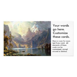 アルバートBierstadt著ネバダの芸術を絵を描くタホ湖 カード