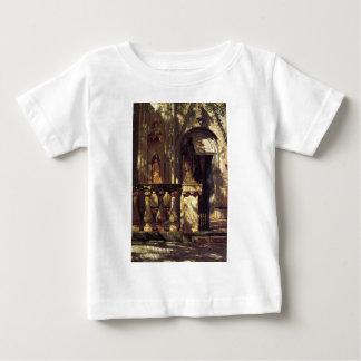 アルバートBierstadt著日光そして影の勉強 ベビーTシャツ