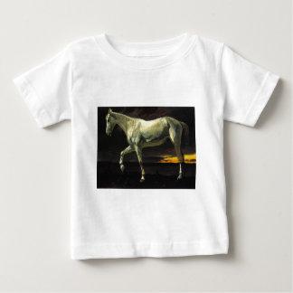 アルバートBierstadt著白馬そして日没 ベビーTシャツ