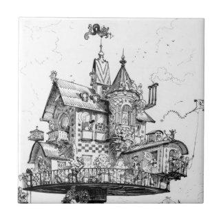 アルバートRobida著Steampunkの空気の家 タイル