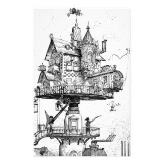 アルバートRobida著Steampunkの空気の家 便箋