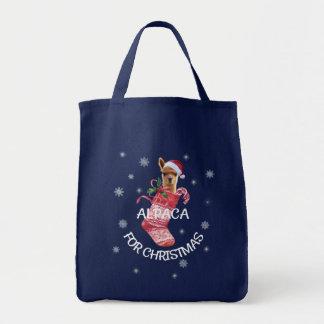 アルパカのクリスマスのトート トートバッグ