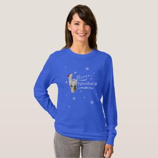 アルパカのクリスマスのワイシャツ Tシャツ