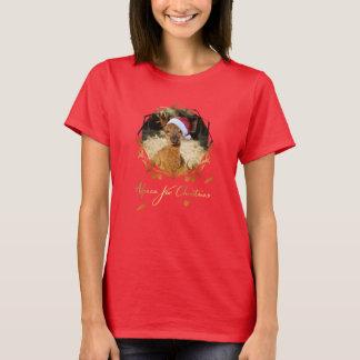 アルパカのクリスマスのTシャツ Tシャツ