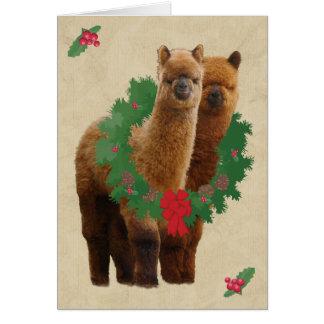 アルパカのクリスマスカード カード