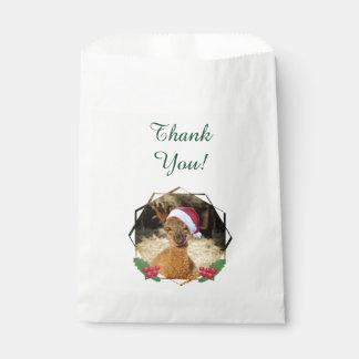アルパカのクリスマス・パーティの好意のバッグ フェイバーバッグ