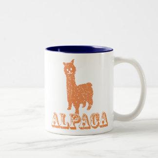 アルパカのシルエット1 Yのマグ ツートーンマグカップ