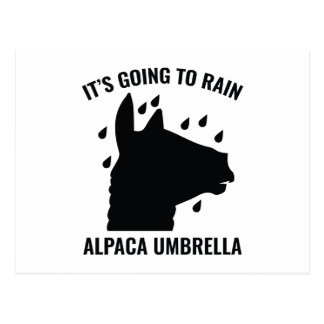 アルパカの傘 ポストカード