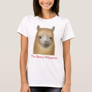 アルパカの囁くものの女性Tシャツ Tシャツ