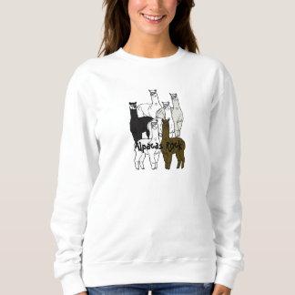 アルパカの石の農場の日のイベントの女性スエットシャツ スウェットシャツ