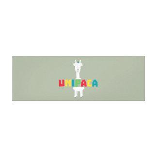 アルパカの虹のユニコーンZ0ghq キャンバスプリント