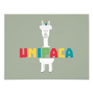 アルパカの虹のユニコーンZ0ghq フォトプリント
