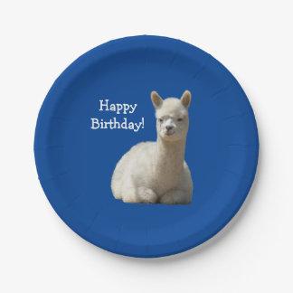 アルパカの誕生日7インチの紙皿 ペーパープレート