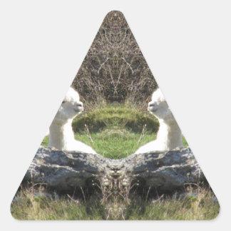 アルパカの鏡 三角形シール