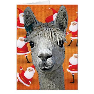 アルパカカスタムなYouBeautはクリスマスを設計します カード