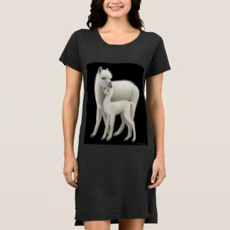 アルパカ母親らしい愛ワイシャツの服 ドレス