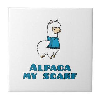 アルパカ私のスカーフ タイル