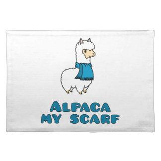アルパカ私のスカーフ ランチョンマット