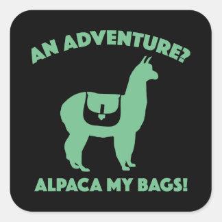 アルパカ私のバッグ スクエアシール